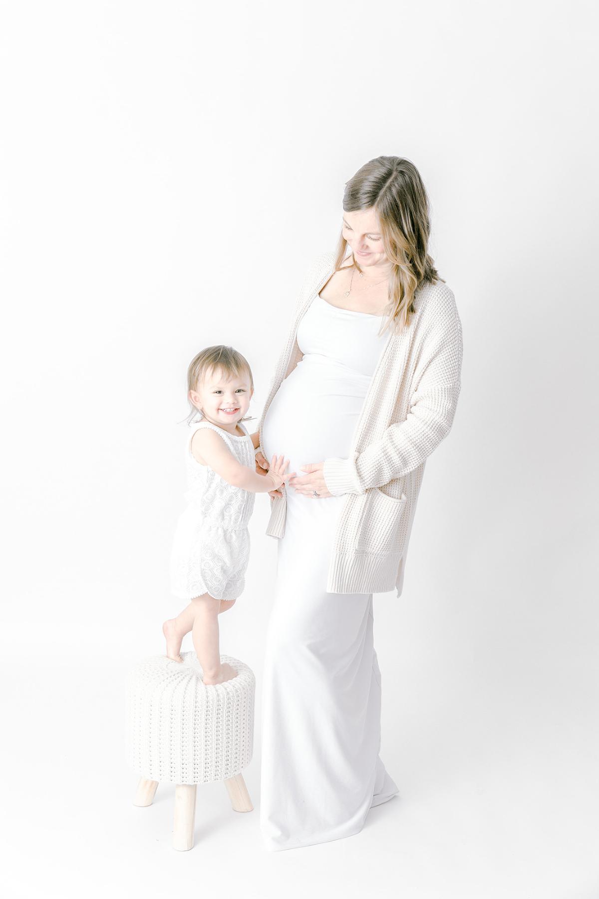 White-Studio-Maternity-Photography
